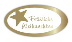Geschenketiketten E-810a Fröhliche Weihnachten weiß, Prägung i