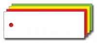 Kolli-Anhänger, Kunststoff blanko AEK 75-25 - 250 Stück