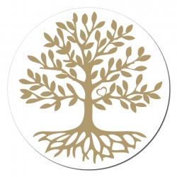 Baum Des Lebens Aufkleber Auf Rolle 250 Stück Ca 7 5 Cm