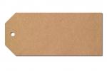 Anhängeetiketten, braun-natur, blanko AD-33 - 500 Stück