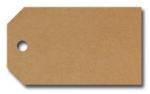 Anhängeetiketten, braun-natur, blanko AD-19 - 500 Stück