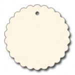 Anhängeetiketten, antique-gerippt, blanko AD-22 - 500 Stück