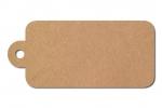 Anhängeetiketten, braun-natur, blanko AD-110 - 500 Stück