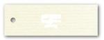 Anhängeetiketten, antique-gerippt, blanko AE-75-40 - 500 Stück