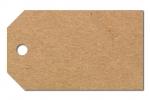 Anhängeetiketten, braun-natur, blanko AC-54 - 500 Stück