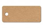 Anhängeetiketten, braun-natur, blanko AC-27 - 500 Stück