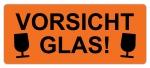 Warnetiketten W-031 - 65 x 27 mm - Vorsicht Glas - 500 Stück