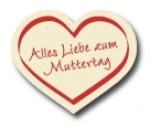 Geschenketiketten E-343b Alles Liebe zum Muttertag creme