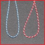 Baumwollfaden Länge ca. 250 mm blau/weiß - VPE = 1.000 Stck