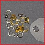 Metallöse, montiert, vernickelt oder Messing - VPE = 1.000 Stück