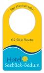 Flaschenanhänger im Offset-Druck FE-81  - 1.000 Stück