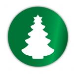 Geschenketiketten E-652 Weihnachtsbaum grün/weiß