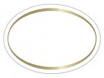 LR-63a Haft-Etiketten weiß mit geprägtem Rand in Gold