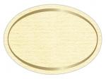 LR-63c Haft-Etiketten creme-gerippt mit geprägtem Rand in Gold