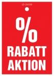 Aktionsetiketten LD 15-019 - % Rabattaktion - 500 Stück