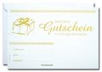 Geschenk-Gutscheine GG-031 mit Gold-Prägung 25 Stück