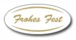 Geschenketiketten E-751 Frohes Fest weiß/gold