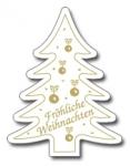 Weihnachtsbaum E-135a Fröhliche Weihnachten weiß/gold