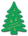 Weihnachtsbaum E-135b Fröhliche Weihnachten grün/gold