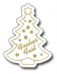 Weihnachtsbaum E-136a Frohes Fest weiß/gold