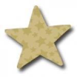 Weihnachtsetiketten E-148c Stern gold /gold