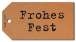 Geschenkanhänger Frohes Fest - 50 Stück