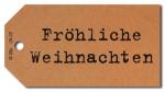 Geschenkanhänger Fröhliche Weihnachten - 50 Stück