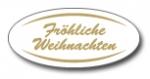 Geschenketiketten E-752 weiß/gold Fröhliche Weihnachten