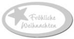 Geschenketiketten E-810b Fröhliche Weihnachten weiß, Prägung i
