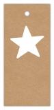 Geschenk-Anhänger im Vintage-Look Stern SP-151-50 - 75x34 mm - 50 Stück