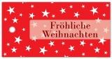 Anhänge-Etikett Fröhliche Weihnachten SP-163-50 - 75x38 mm - 50 Stück