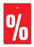 Aktionsetiketten LD 15-010 - % - 500 Stück