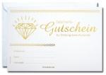 Geschenk-Gutscheine GG-035 mit Gold-Prägung 25 Stück