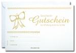 Geschenk-Gutscheine GG-032 mit Gold-Prägung 25 Stück