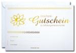 Geschenk-Gutscheine GG-033 mit Gold-Prägung 25 Stück