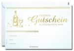 Geschenk-Gutscheine GG-034 mit Gold-Prägung 25 Stück