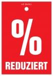 Aktionsetiketten LD 15-011 - % Reduziert - 500 Stück