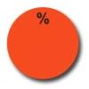 Aktionsetiketten W-018 rund mit Druck - %