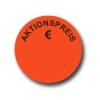 Aktionsetiketten W-016 rund mit Druck - Aktionspreis €