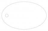 Anhängeetiketten, blanko AD-14 - 500 Stück