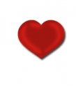Geschenketiketten E-230 Herz, Hochglanz-Haftpapier - 500 Stück