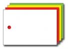 Kolli-Anhänger, Kunststoff blanko AEK 60-40 - 250 Stück