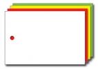 Kolli-Anhänger, Kunststoff blanko AEK 75-50 - 250 Stück