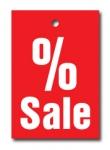 Aktionsetiketten LD 15-013 - % Sale -  500 Stück