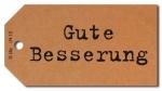 Geschenkanhänger Gute Besserung - 50 Stück