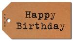 Geschenkanhänger Happy Birthday - 50 Stück