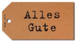 Geschenkanhänger Alles Gute - 50 Stück