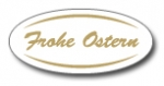 Geschenketiketten E-754 Frohe Ostern weiß/gold