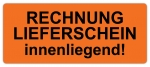 Warnetiketten W-035 - 65 x 27 mm - Rechnung/Lieferschein.....