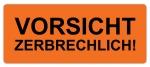 Warnetiketten W-039 - 65 x 27 mm - Vorsicht zerbrechlich - 50
